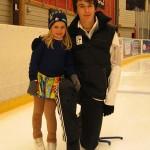 Marcel och Anna på träning
